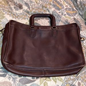 Vintage Coach briefcase brown leather large
